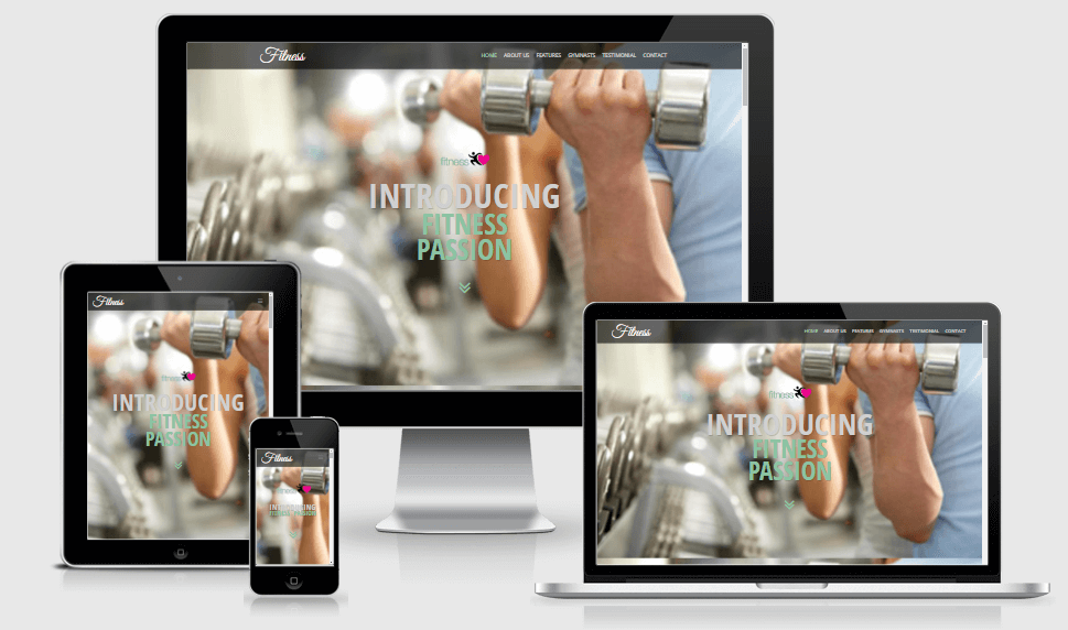 Fitness free gym fitness bootstrap website templates