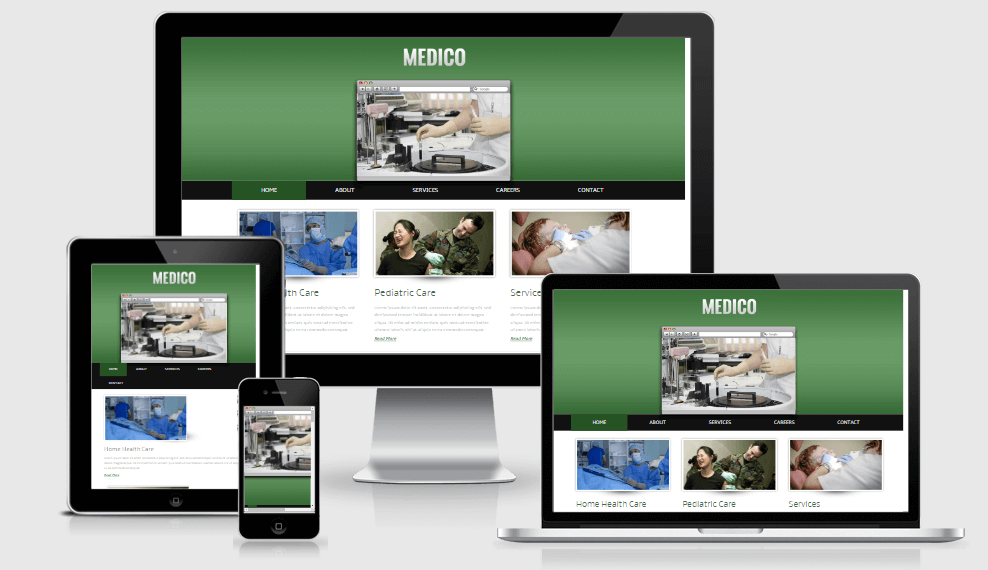 Medico free gym fitness bootstrap website templates