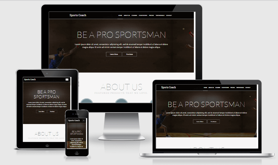 Sports Coach free gym fitness bootstrap website templates