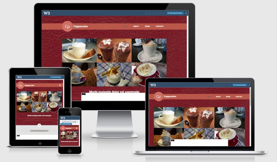 Cappuccino HTML5 Bootstrap based free restaurant template download
