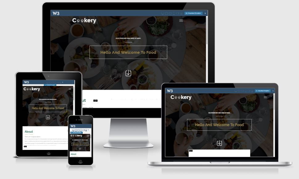 Cookery HTML5 Bootstrap based free restaurant template download