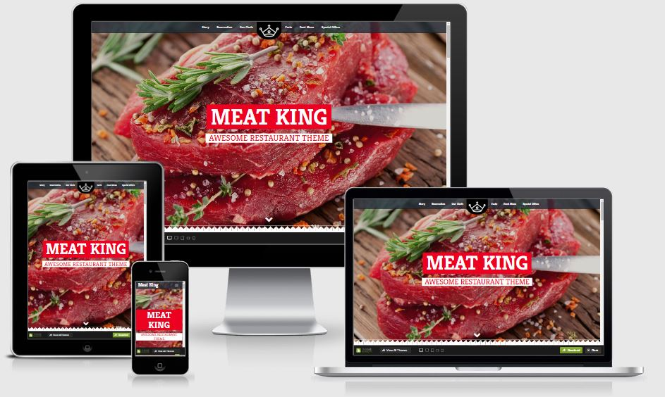 Meat King HTML5 Bootstrap based free restaurant template download