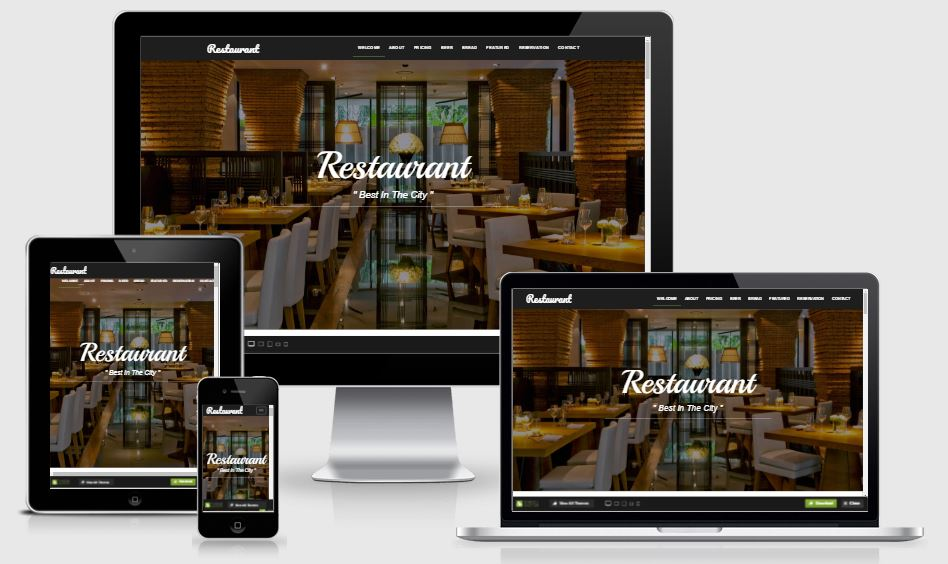 Restaurant HTML5 Bootstrap based free restaurant template download
