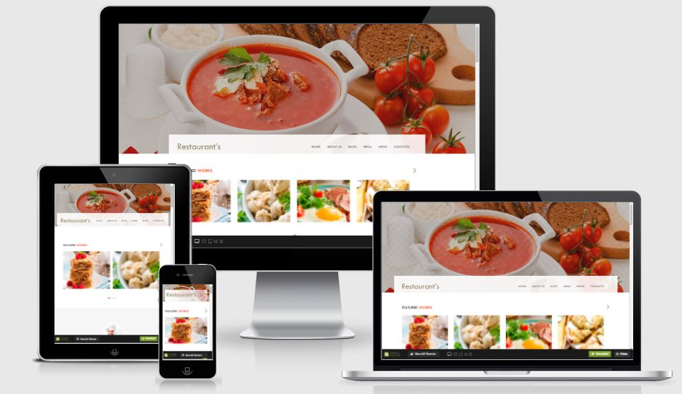 Spicy HTML5 Bootstrap based free restaurant template download
