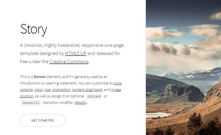 Responsive One Page Lightweight Multipurpose Template