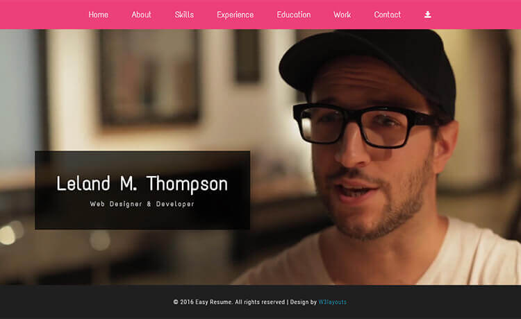 Easy Resume U2013 Free Responsive Personal Portfolio Website Template  Personal Website Resume