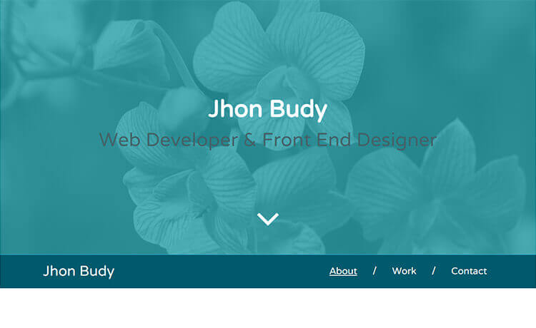 Free Responsive Personal Portfolio Bootstrap Template