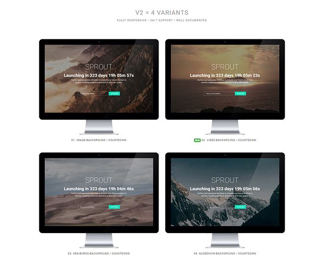 Coming Soon Bootstrap Template Free Download