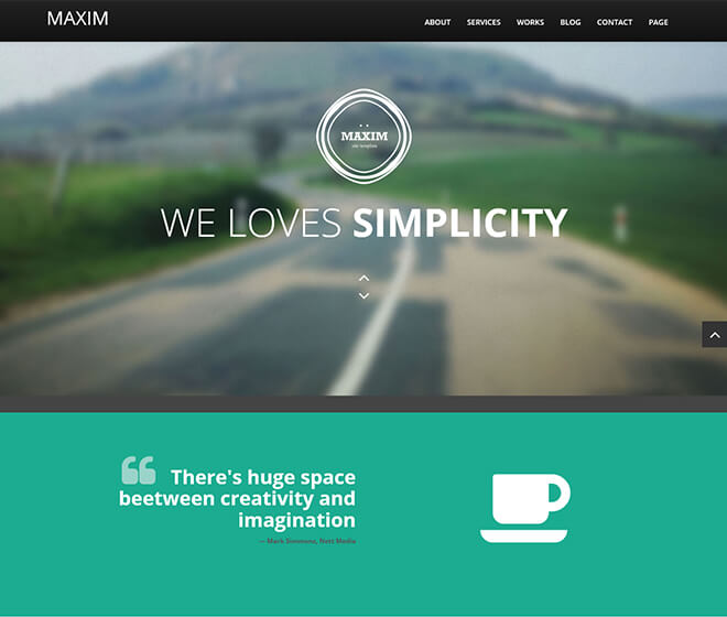 01.-Maxim1 business website design template