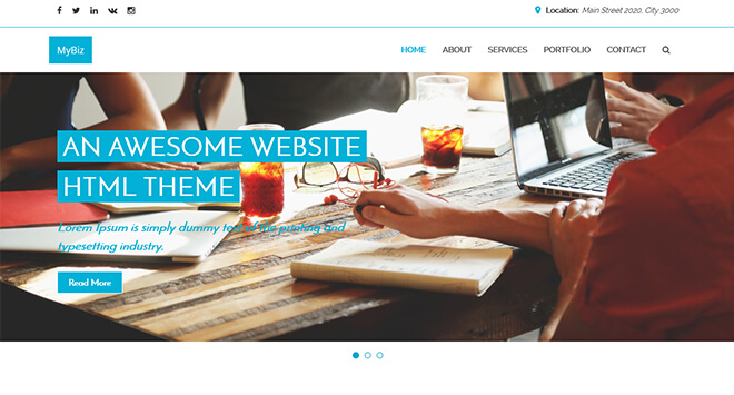 02.-MyBiz1 business website design template