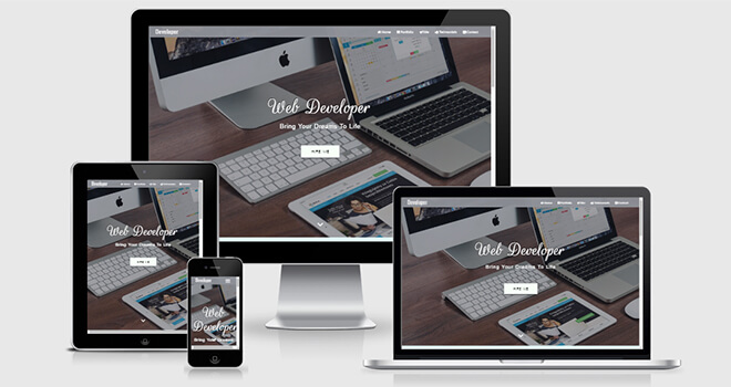 029. Developer free responsive bootstrap template