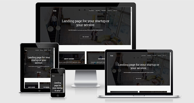 041. Slab free responsive bootstrap template