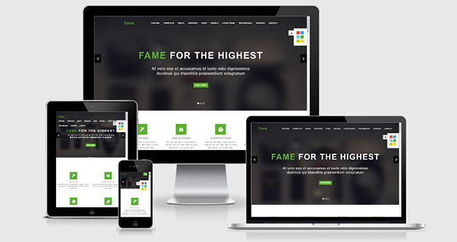 047. Fame free responsive bootstrap template
