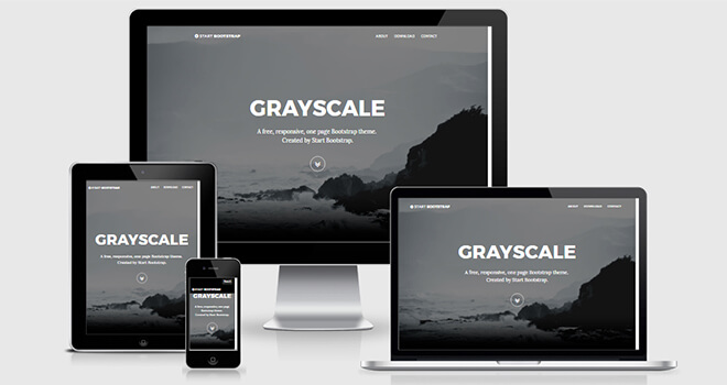 048. GrayScale free responsive bootstrap template