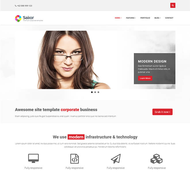 30 business website design template free download sailor1 business website design template wajeb Choice Image
