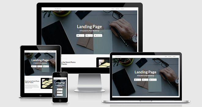 063. Landing Page free responsive bootstrap template