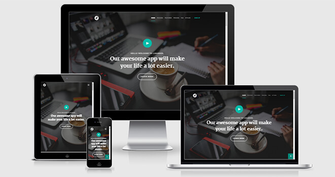 065. Lhander free responsive bootstrap template