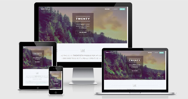 073. Twenty free responsive bootstrap template
