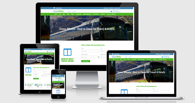 081. Green Wheels free responsive bootstrap template