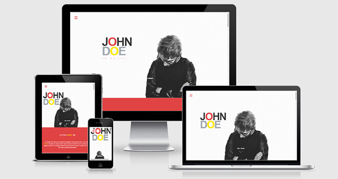 086. John Doe free responsive bootstrap template