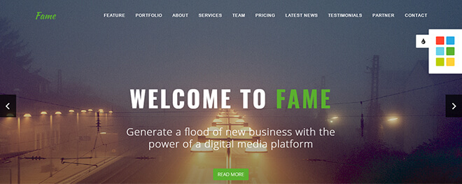09.-Fame business website design template