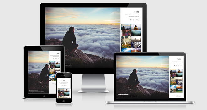 096. Lens free responsive bootstrap template