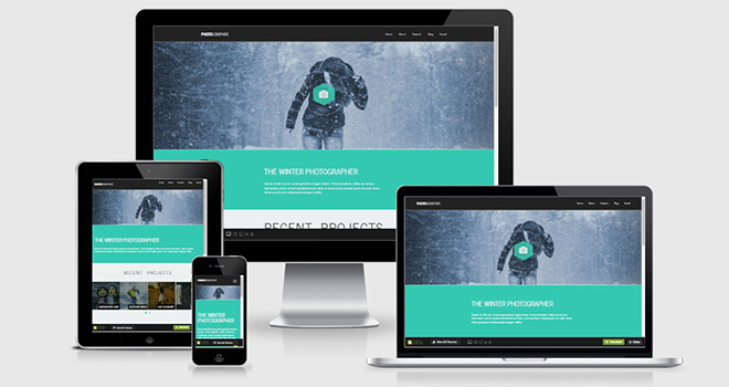 098. Photographer free responsive bootstrap template