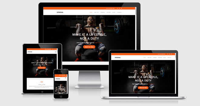 108. Stamina free responsive bootstrap template