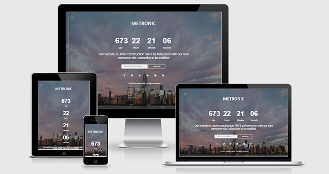 110. Metronic free responsive bootstrap template