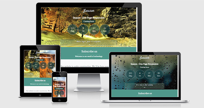 113. Season free responsive bootstrap template