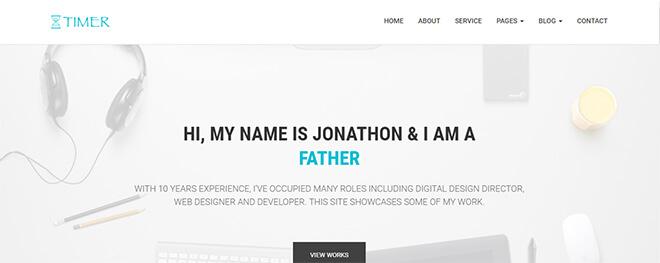 12.-Timer business website design template