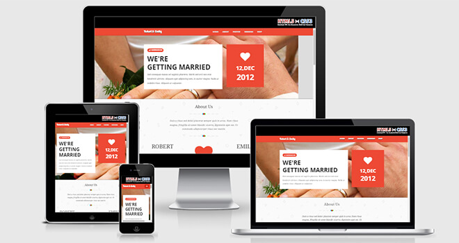 129. Weddo free responsive bootstrap template