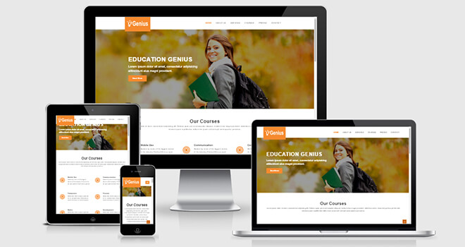 144. Genius free responsive bootstrap template