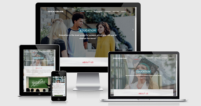 145. Education hub free responsive bootstrap template
