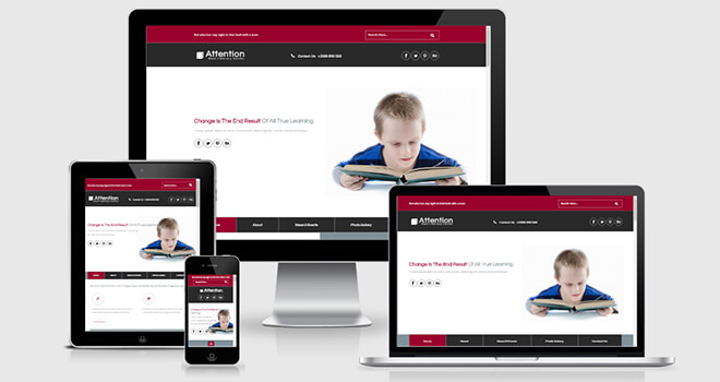 146. Attension free responsive bootstrap template