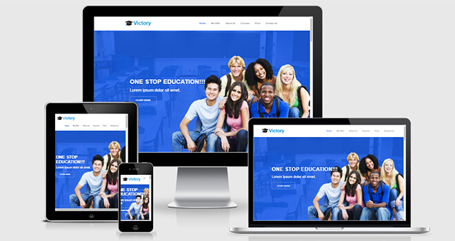 149. Victory free responsive bootstrap template