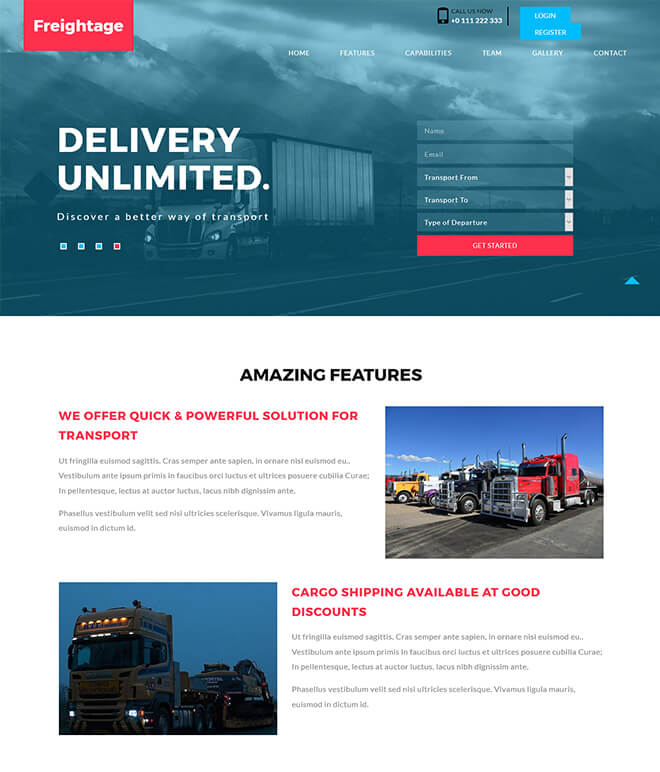15.-Freightage business website design template
