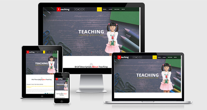 150. Teaching free responsive bootstrap template