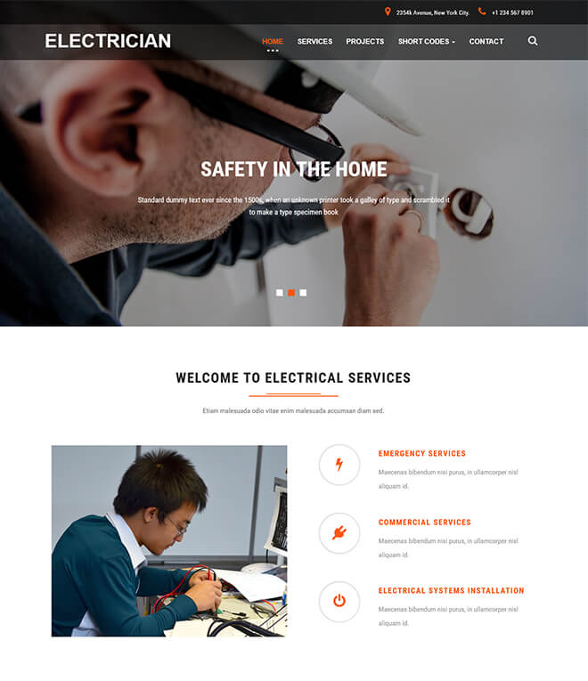 17.-Electrician business website design template