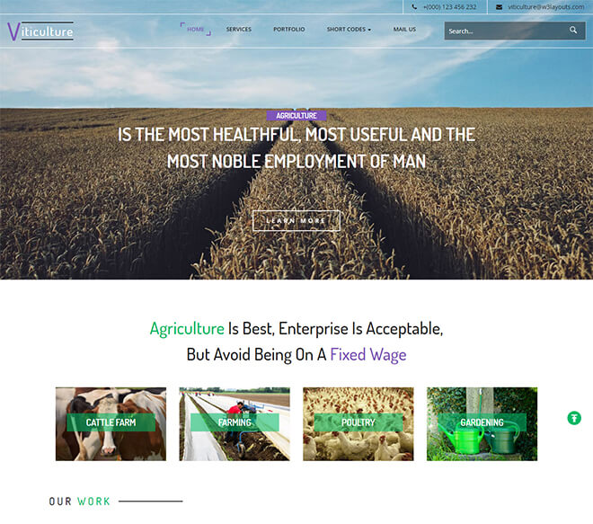 19.-Viticulture business website design template