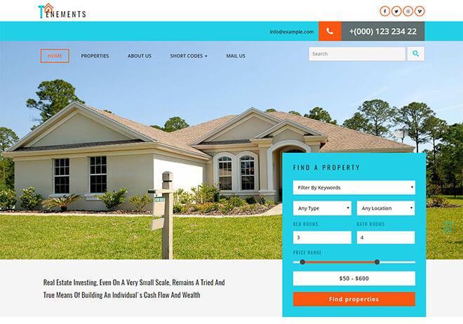 20.-Tenements business website design template