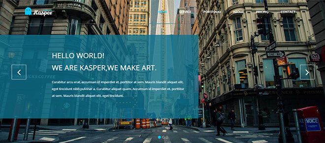 22.-Kasper business website design template