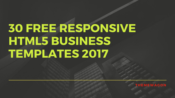 30 Free HTML5 Business Templates 2017