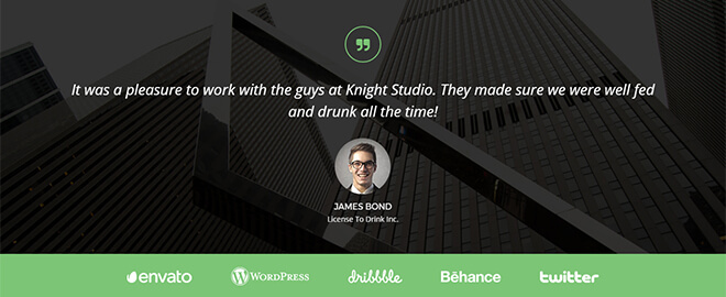 Knight-testimonial Free One Page Multipurpose Responsive Bootstrap Template