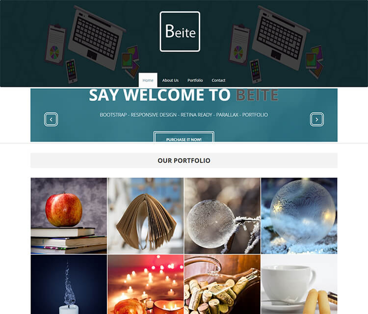 Portfolio Responsive Bootstrap 3 Template Free Download