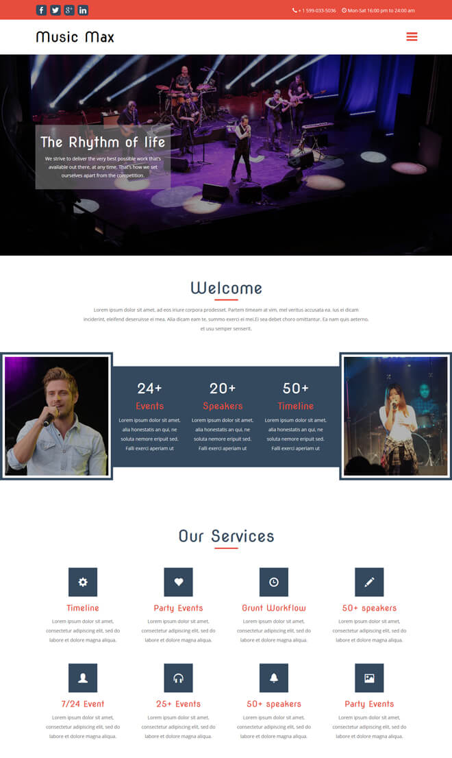 free event bootstrap template list of best quality html5 templates for event and conference websites. Black Bedroom Furniture Sets. Home Design Ideas