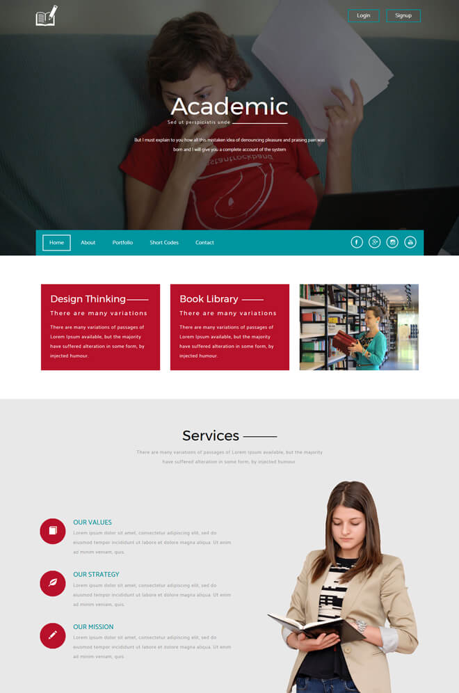 30 school college university academic free online education academic free online education website template pronofoot35fo Images