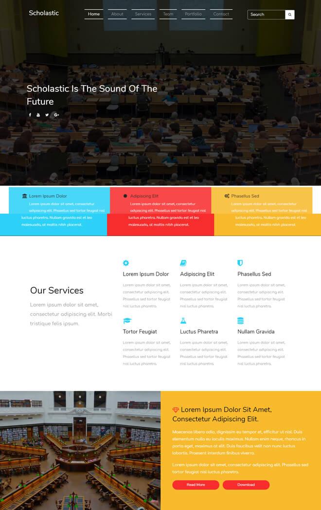 Scholastic - free online education website template