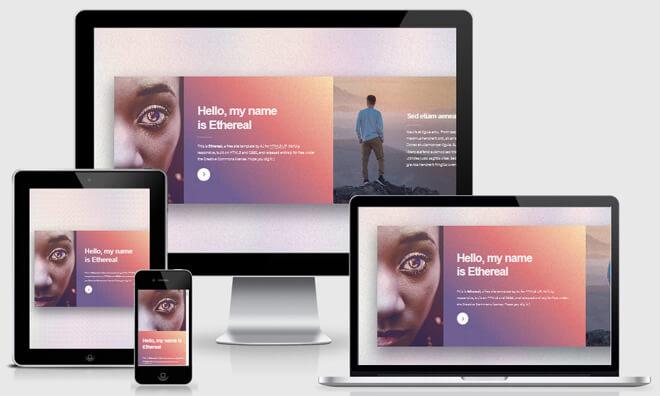 Personal portfolio template responsive