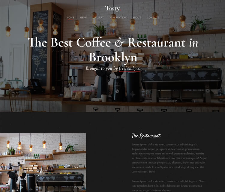 Download Now Free Bootstrap Template For Food And Restaurant - Free business plan template for restaurant